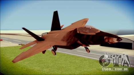 F-22 Raptor G1 Starscream para GTA San Andreas vista traseira
