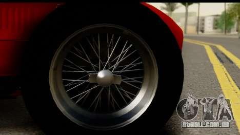 Ferrari 375 F1 para GTA San Andreas vista traseira