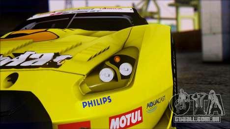 Nissan GTR R35 JGTC Yellowhat Tomica 2008 para GTA San Andreas vista interior