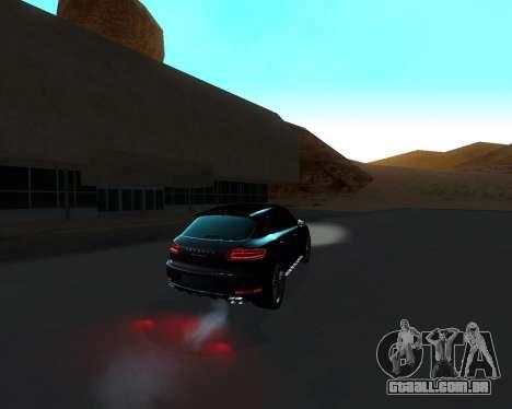 Porsche Macan Turbo para GTA San Andreas vista inferior