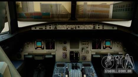Airbus A320-200 AirAsia Queens Park Rangers para GTA San Andreas traseira esquerda vista