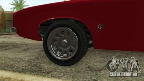 GTA 5 Declasse Stallion para GTA San Andreas traseira esquerda vista