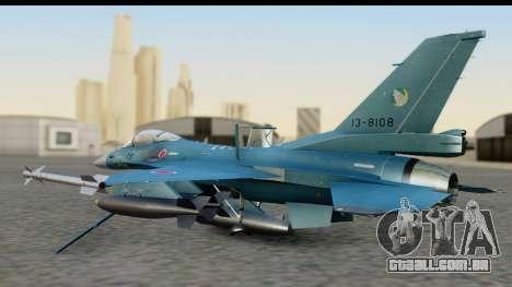 F-2A Viper Blue para GTA San Andreas traseira esquerda vista