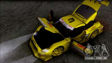 Nissan GTR R35 JGTC Yellowhat Tomica 2008 para GTA San Andreas vista inferior