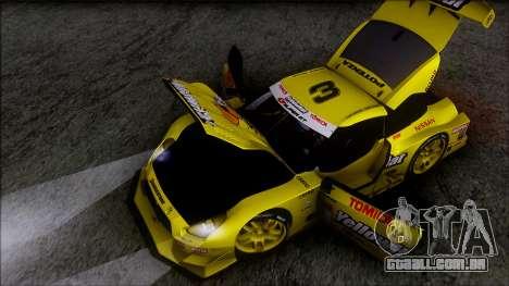 Nissan GTR R35 JGTC Yellowhat Tomica 2008 para GTA San Andreas vista inferior