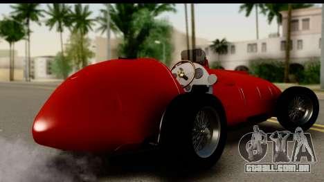 Ferrari 375 F1 para GTA San Andreas esquerda vista