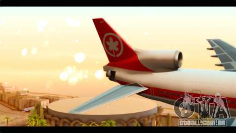 Lookheed L-1011 Air Canada para GTA San Andreas traseira esquerda vista