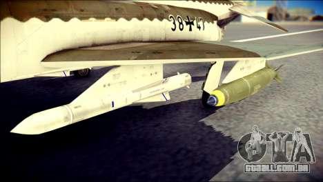 McDonnell Douglas F-4F Luftwaffe para GTA San Andreas vista direita