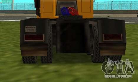 PS2 RoadTrain para GTA San Andreas traseira esquerda vista
