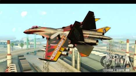 SU-35 Flanker-E Tekken para GTA San Andreas esquerda vista