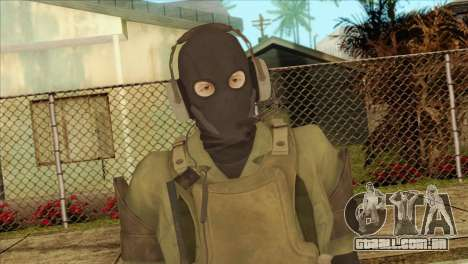 Metal Gear Solid 5: Ground Zeroes MSF v1 para GTA San Andreas terceira tela