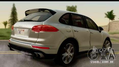 Porsche Cayenne S 2015 para GTA San Andreas esquerda vista