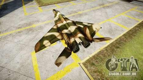 O MiG-29 para GTA 4 traseira esquerda vista