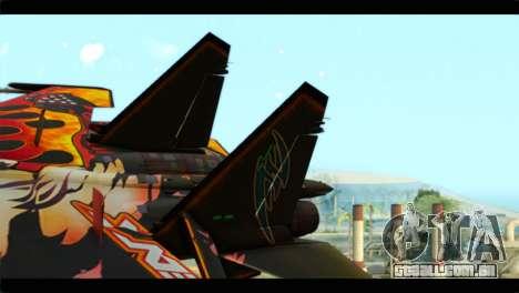 SU-35 Flanker-E Tekken para GTA San Andreas traseira esquerda vista