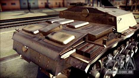 StuG III Ausf. G para GTA San Andreas vista traseira