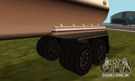 PS2 Petrol Trailer para GTA San Andreas traseira esquerda vista