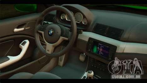 BMW M3 E46 Stock para GTA San Andreas vista direita