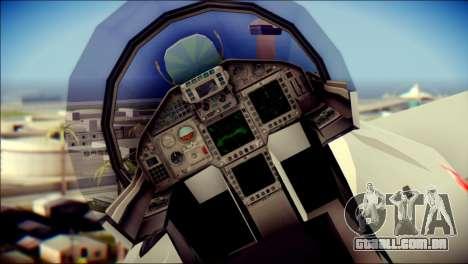 EuroFighter Typhoon 2000 Luftwaffe para GTA San Andreas vista traseira