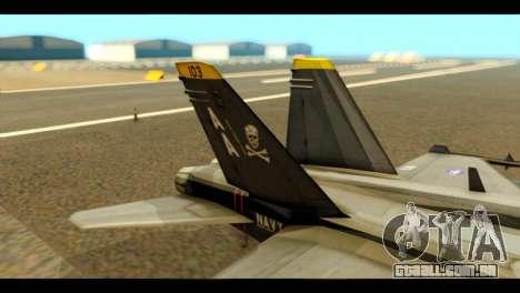 FA-18 Jolly Roger Black para GTA San Andreas traseira esquerda vista