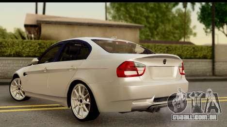 BMW M3 E90 Hamann para GTA San Andreas esquerda vista