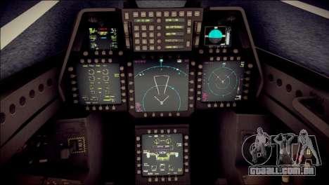 F-22 Raptor Desert Camo para GTA San Andreas vista direita
