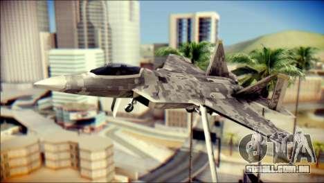 F-22 Raptor Digital Camo para GTA San Andreas