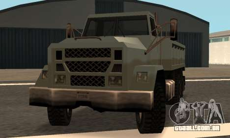Flatbed Fixed para GTA San Andreas vista traseira