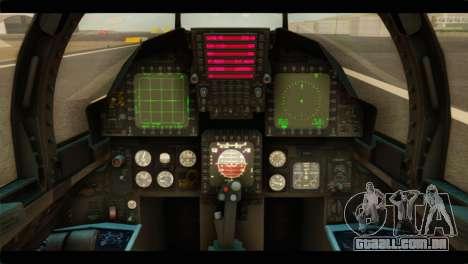 McDonnell Douglas F-15E Strike Eagle para GTA San Andreas vista traseira