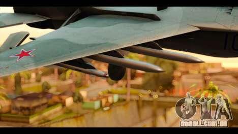 MIG-29 Fulcrum para GTA San Andreas vista direita