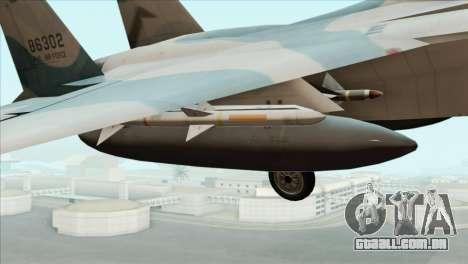 McDonnell Douglas F-15D Philippine Air Force para GTA San Andreas vista direita