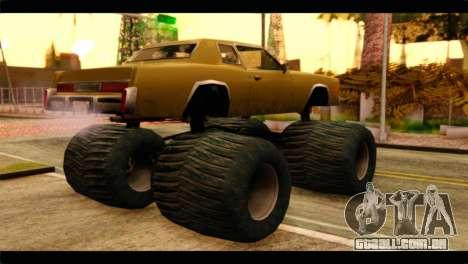 Monster Esperanto para GTA San Andreas esquerda vista