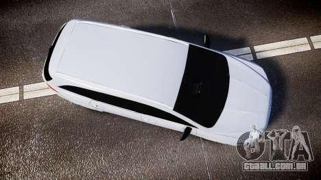 Ford Fusion Estate 2014 Unmarked Police [ELS] para GTA 4 vista direita