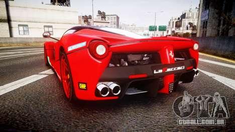 Ferrari LaFerrari 2013 HQ [EPM] PJ4 para GTA 4 traseira esquerda vista
