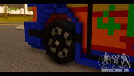 Minecraft Elegant para GTA San Andreas traseira esquerda vista