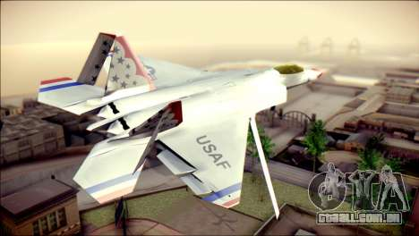 F-22 Raptor Thunderbirds para GTA San Andreas esquerda vista