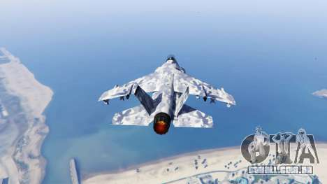GTA 5 Hydra light blue camouflage terceiro screenshot