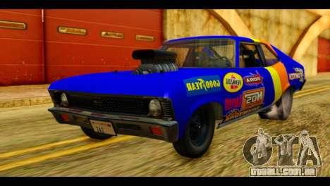 Chevy Nova NOS DRAG para GTA San Andreas