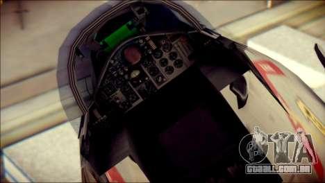 McDonnell Douglas F-4B Phantom II para GTA San Andreas vista traseira