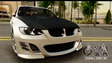 BMW M3 E90 Hamann para GTA San Andreas traseira esquerda vista