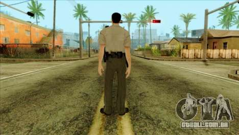 Depurty Alex Shepherd Skin para GTA San Andreas segunda tela