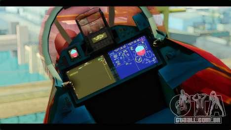 SU-35 Flanker-E Tekken para GTA San Andreas vista traseira