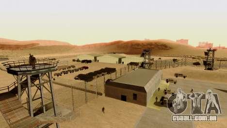 DLC 3.0 Militar atualização para GTA San Andreas nono tela