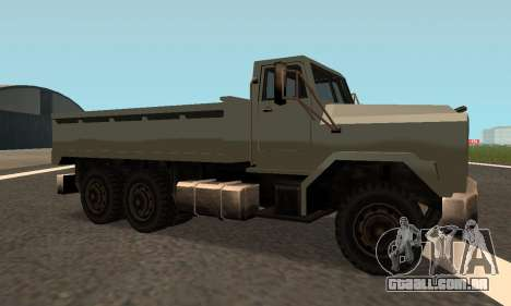 Flatbed Fixed para GTA San Andreas vista direita