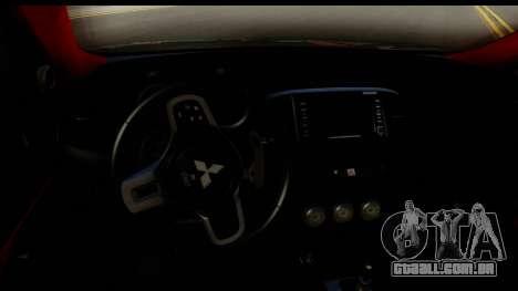 Mitsubishi Lancer Evolution X 2014 Itasha para GTA San Andreas vista interior