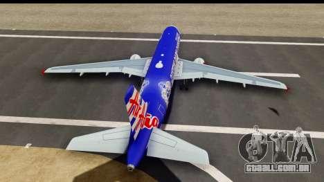 Airbus A320-200 AirAsia Queens Park Rangers para GTA San Andreas vista interior