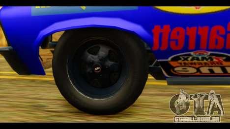 Chevy Nova NOS DRAG para GTA San Andreas traseira esquerda vista