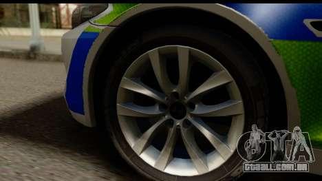BMW 530d Kent Police RPU para GTA San Andreas vista traseira
