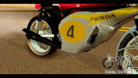 Honda RC 181 1967 para GTA San Andreas vista direita