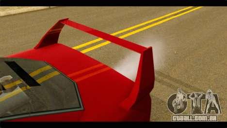 Turismo F40 para GTA San Andreas vista direita