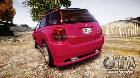GTA V Benefactor Serrano para GTA 4 traseira esquerda vista